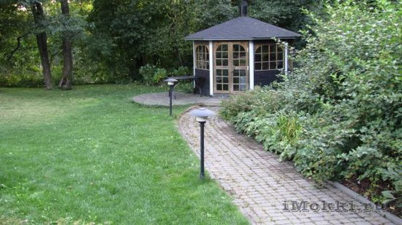 A grill hut in the garden